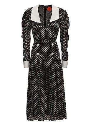 Marianna Senchina Folded Midi Dress_BROWN