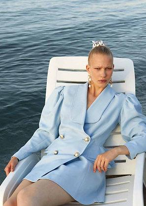 Marianna Senchina Double Breasted Ruffle Jacket-Dress