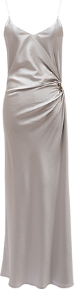 Christopher Esber Ruched Orbit Cami Dress - Silver