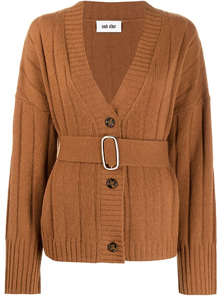 Each x Other Belted Rib Knit Cardigan