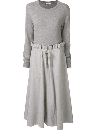 Goen.J Wool Knit Top & Cotton Skirt Dress