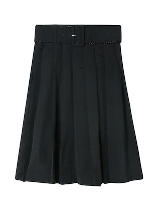 Shushu/Tong Raw Edge Pleats Skirt