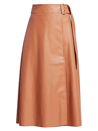 Each x Other Vegan Leather Belted Skirt