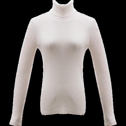 Bourie Slit detail turtleneck - White