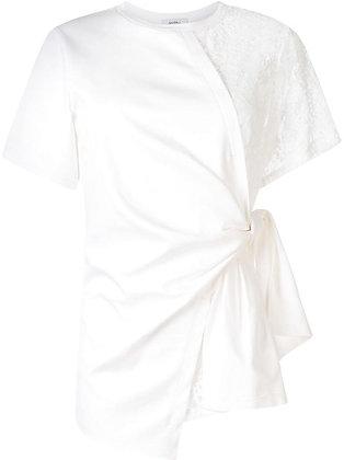 Goen.J Jersey body wrap top - White