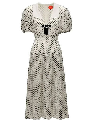 Marianna Senchina Folded Midi Dress_WHITE