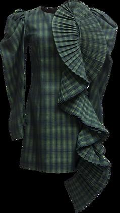 Nadya Dzyak Green plaid mini-dress