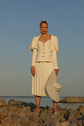 Marianna Senchina Folded skirt with golden buttons