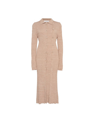 Double Buttoned Long Sleeve Dress