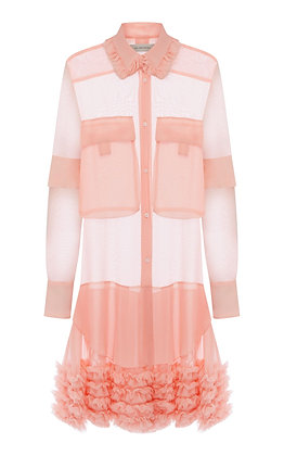 Lee Mathews Kitty Ruffle Dress - Pink