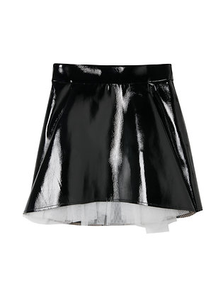 Shushu/Tong A Shape Leather Skirt