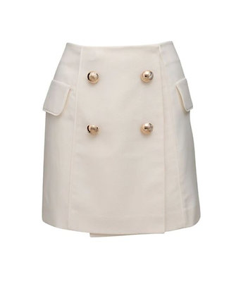 Marianna Senchina Mini Skirt With Golden Buttons