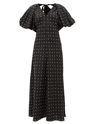 Lee Mathews Roxie Puff Sleeve Dress
