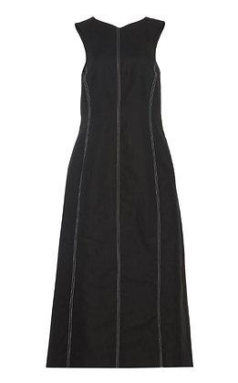 Low Classic Stitch Sleeveless Dress - Black