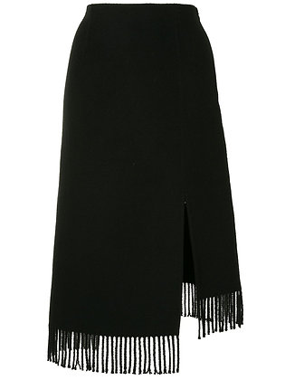Goen.J Asymmetric Fringed Skirt
