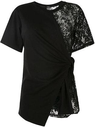 Goen.J Jersey body wrap top - Black