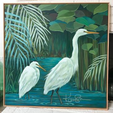 Wandering Egrets