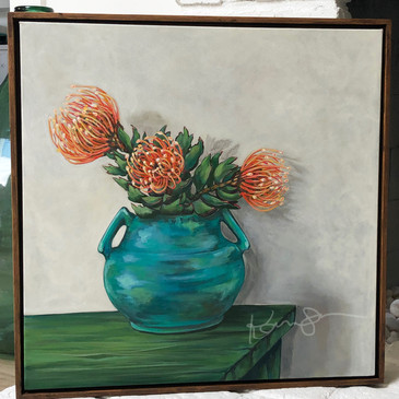 Pot of Proteas