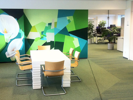 The Benefits of Office Wall Murals for Corporate and Small Businesses
