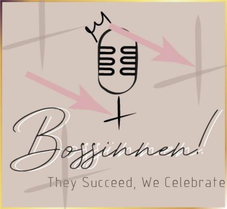 Die Kreuze im Bossinnen! - Podcast - Logo sind eine Referenz zu dem weiblichen Venuszeichen.