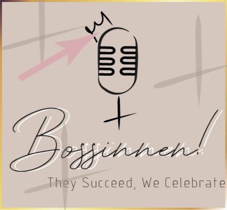 Auch im Podcast - Logo von Bossinnen! findet sich die Bossinnen! - Krone wieder.