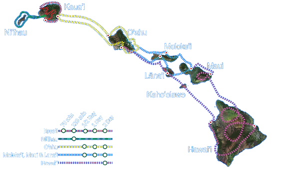Hawaii Flight Map Airplane Private Tour