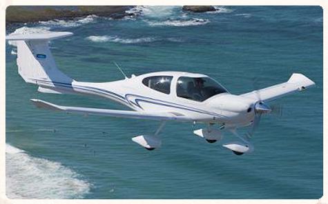 diamond airplane glass cockpit adventure
