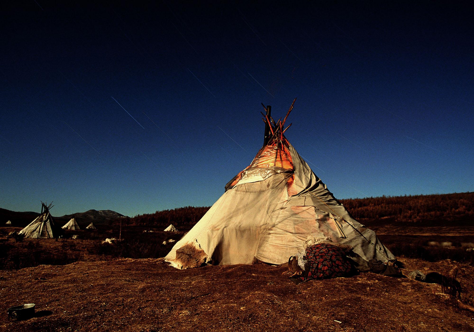 Tippi de noche. Norte de Mongolia