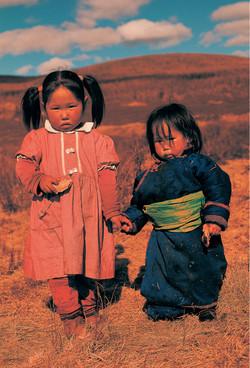 Niñas Tsaatan. Mongolia