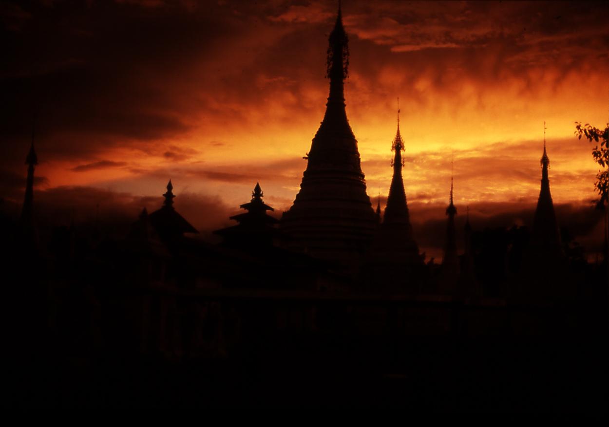 Pagoda Inle Lake. Myanmar