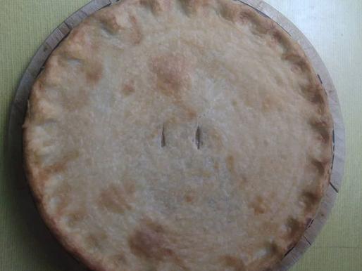 Leek, mushroom and chestnut pie