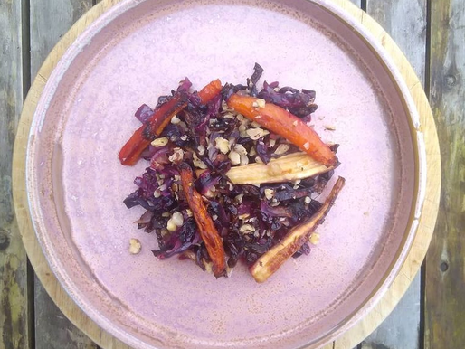 Roasted Red Cabbage & Winter Veg