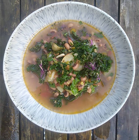 This recipe is for a simple, warming and nutritious broth. The ingredient list has suggestions for swaps that can be made (e.g. store-cup...