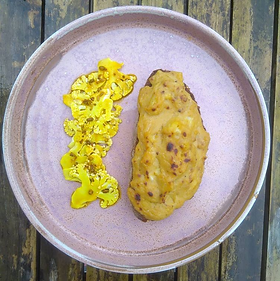 Serves 2 Quick 'piccalilli' cauliflower pickles, with vegan welsh rarebit For the 'Piccalilli' quick pickles · ¼ head of cauliflower ·...
