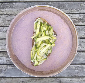 A super simple and summery courgette salad that's ready in 5 minutes! Use as part of a salad plate, a toast topper or sandwich filler...