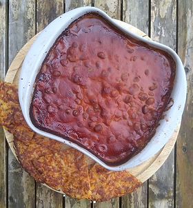 Baked fava beans with root veg rosti Hodmedod's Fava Beans can be bought at Platt Fields Market garden. This recipe can also be made with...