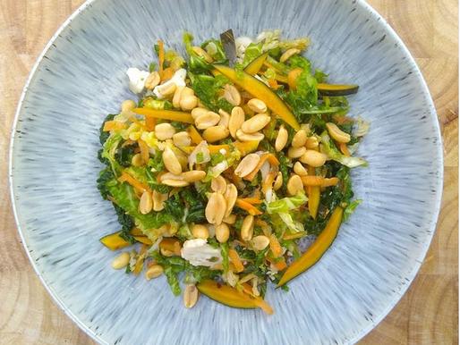 Autumnal Raw & Fermented Winter Salad