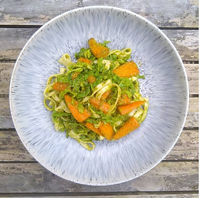Roasted peanuts and fresh coriander are used here to make an Asian inspired 'Pesto'. It can be used as zingy dip or mixed with...