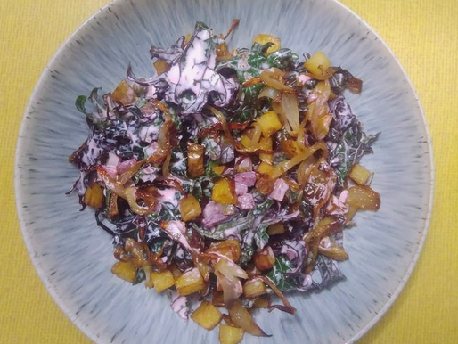 Russian red kale salad