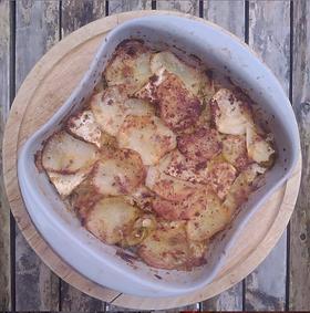 · ½ small celeriac (about 350g) · 1 medium potato · ½ leek · 1 small white onion · Black Pepper · Salt or celery salt · Nutritional yeast...