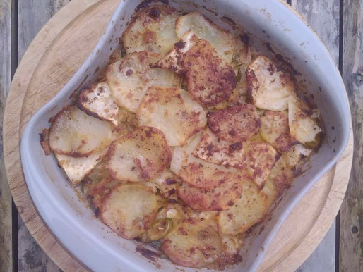 Celeriac, Leek and Potato Bake