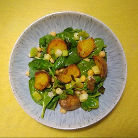 · SERVES 2 · 300g of potatoes (floury potatoes are best, but any are OK) · 100g of watercress (or a mix of watercress and other salad...