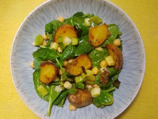 Simple watercress and potato salad