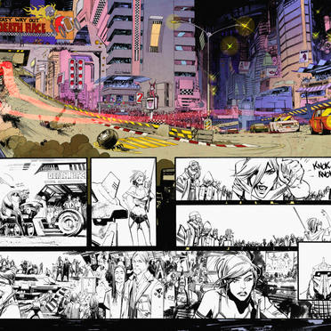 'Tokyo Ghost' Colouring Sample