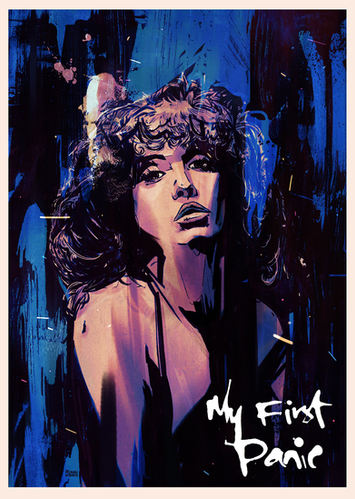 'My First Panic' illustrated poster
