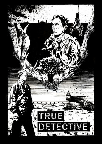 'True Detective' Illustrated poster