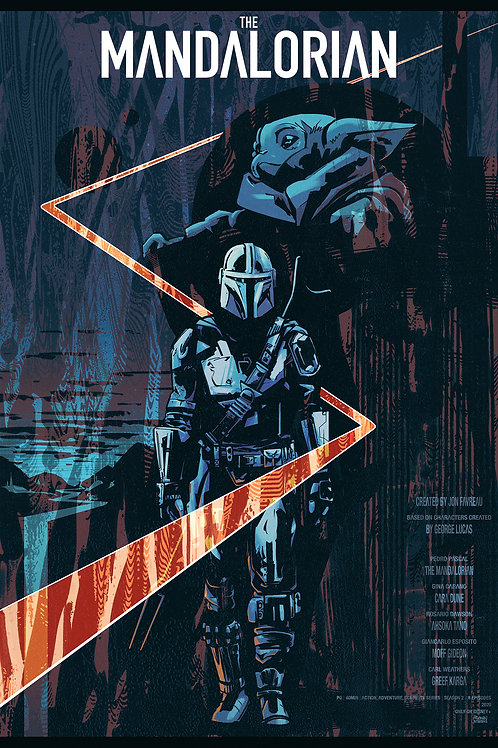 Illustrated THE MANDALORIAN poster