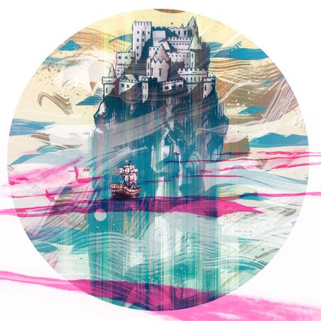'Castles Made Of Sand' inspired illustration for Secret 7
