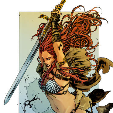 Red Sonja pinup colours