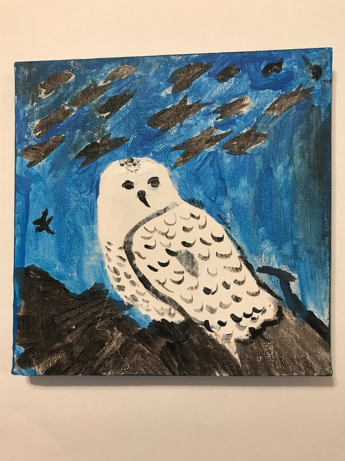 Hoot Owl Painting